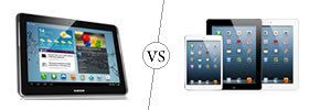 Samsung Galaxy Tab 2 10.1 vs iPad