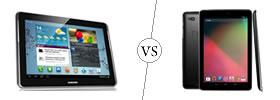Samsung Galaxy Tab 2 10.1 vs Nexus 10