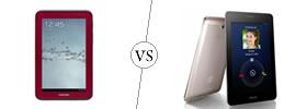 Samsung Galaxy Tab 2 7.0 vs Asus FonePad