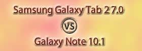 Samsung Galaxy Tab 2 7.0 vs Galaxy Note 10.1