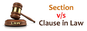 Section vs Clause in Law