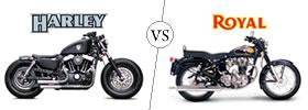 Harley Davidson vs Royal Enfield