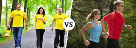 Walking vs Running to Lose Weight