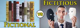 Fictional vs Fictitious