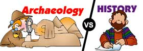 Archaeology vs History