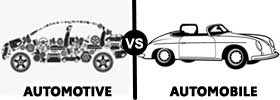Automotive vs Automobile