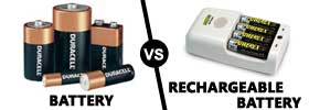 Battery vs Rechargeable Battery