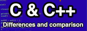 Difference between C and C++ with Examples