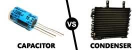 Capacitor vs Condenser