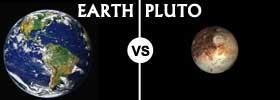 Earth vs Pluto