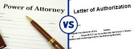 Power of Attorney vs Letter of Authority