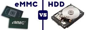 eMMC vs HDD