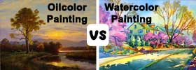 Oil Painting vs Watercolor Painting