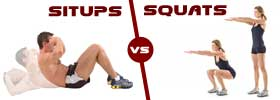 Sit-ups vs Squats