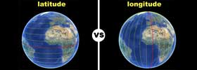 Longitude vs Latitude