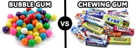 Bubble Gum vs Chewing Gum