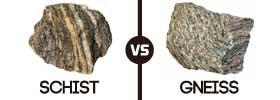 Schist vs Gneiss