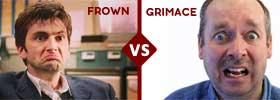 Frown vs Grimace