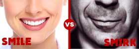 Smile vs Smirk