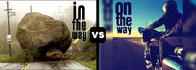 In The Way vs On The Way