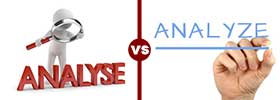 Analyse vs Analyze