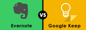 Evernote vs Google Keep