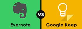 Evernote vs Google Keep