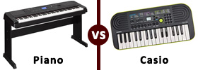 Piano vs Casio Keyboard