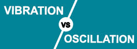 difference between vibrations and oscillations