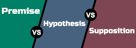 Premise vs Hypothesis vs Supposition