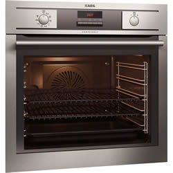 electric ovens or stoves run on well as the name suggests electricity it converts the electricity into heat in order to cook or bake