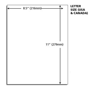 Letter vs Legal paper size | Difference between A4, Foolscap, Letter ...
