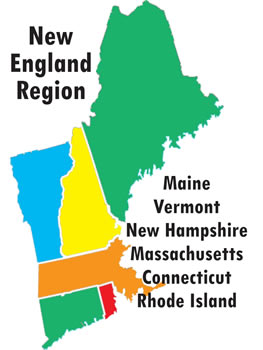 Difference in development new england and