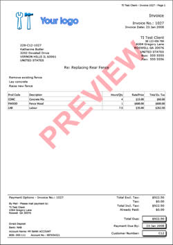 invoice of purchase