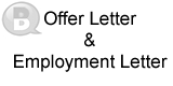 Offer Letter and Employment Letter
