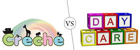 Difference between Creche and Daycare