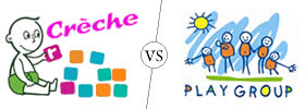 Difference between Crèche and Playgroup