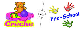 Difference between Crèche and Preschool