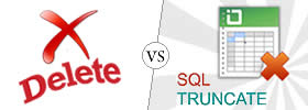 Difference between Delete and Truncate in SQL
