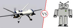 Difference between Drone and Robot