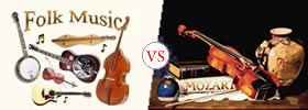Difference between Folk and Classical Music