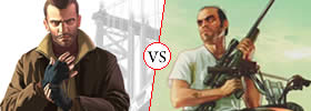 Difference between Gta 4 and Gta 5