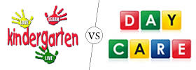 Difference between Kindergarten and Daycare