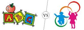 Difference between Kindergarten and Montessori