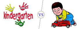 Difference between Kindergarten and Playschool