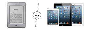 Difference between Kindle and iPad