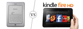Difference between Kindle and Kindle Fire HD