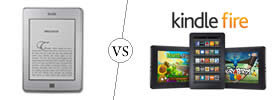 Difference between Kindle and Kindle Fire
