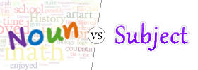 Difference between Noun and Subject