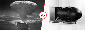 Difference between Nuclear Bomb and Atom Bomb